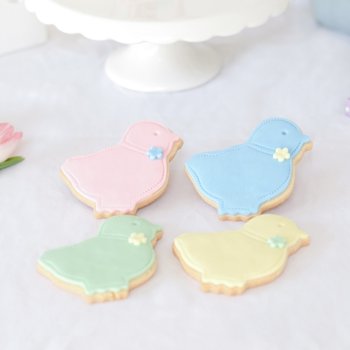 Easter chick biscuits, easter biscuits, easter cookies, easter food styling,