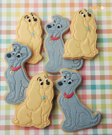 DISNEY LADY AND THE TRAMP Biscuit Cookie Pastry Cutter Gâteau Pâtisserie