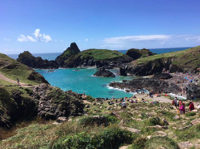 blue seas at kynance cove cornwall