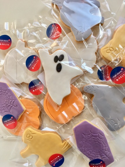 corporate halloween cookies for virgin atlantic