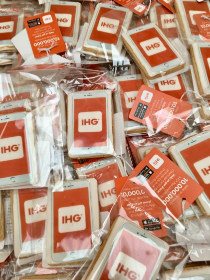 mobile phone corporate biscuits IHG nila holden