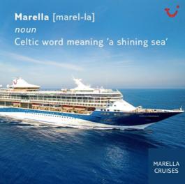 Tui marella cruises launch logo biscuits nila holden